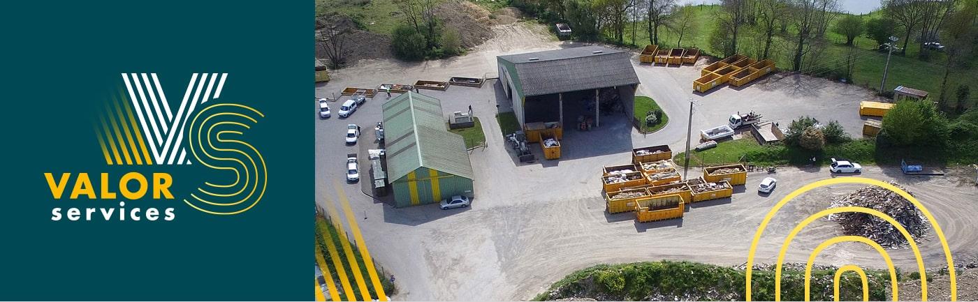 Photo aérienne du site Valor Service